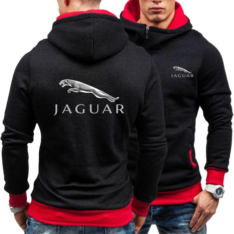 Новинка весна-осень 2021 мужская толстовка с логотипом Jaguar Повседневная Толстовка с Диагональной молнией мужская толстовка мужская одежда
