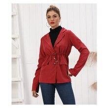 Neatie kiddie Red Slim Fashion Women Blazer OL Single Breasted Suit Female Clothes