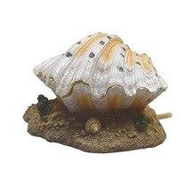 Creative aquarium air pump, pneumatic oxygen pump, coral reef, rockery, shell, clam, bubble, decoration and ornament