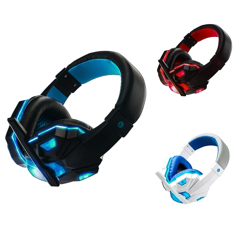 Microphone Gaming Headset Wired Headphones Led Light Gamer Headset for PS4 Nintendo Switch PC Access