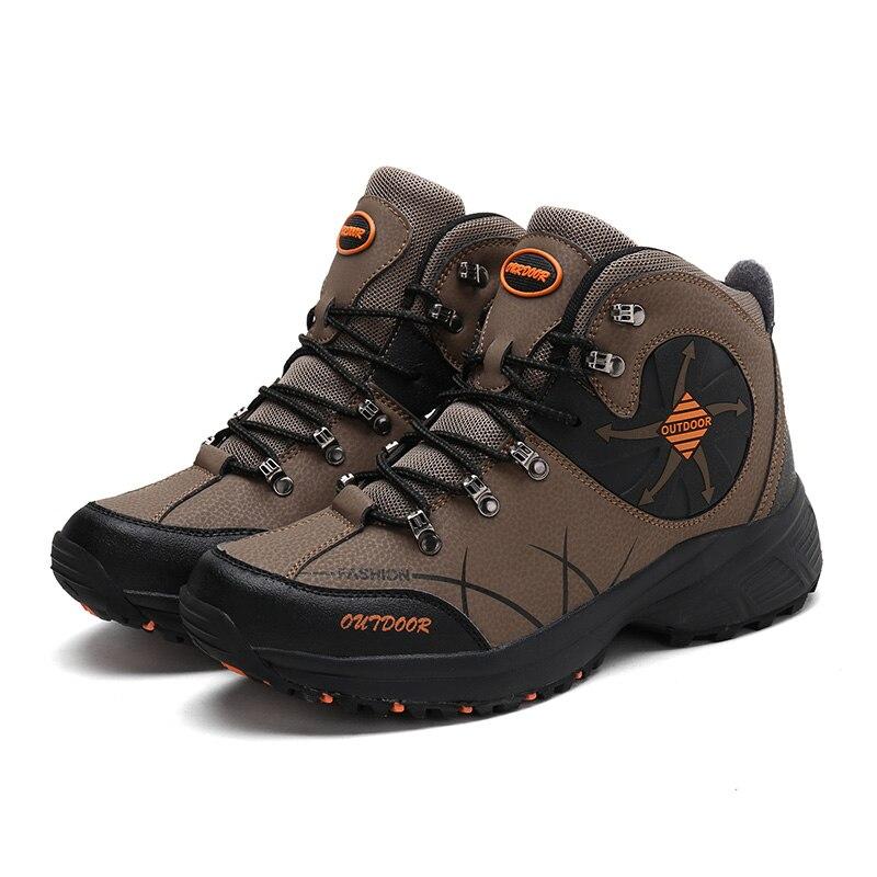 Zapatos de Senderismo para hombre y mujer, Calzado deportivo de cuero para...