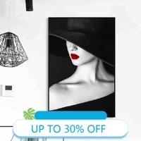 Toile de decoration de noel  affiches de peinture  tableau dart mural de femme moderne de mode pour decoration de salon  decoration de maison