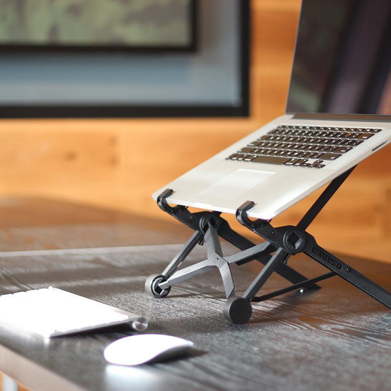 للطي المحمولة محمول قوس قابل للتعديل دفتر حامل سهلة مستقرة حامل دعم ل ماك بوك الهواء محمول حامل اكسسوارات