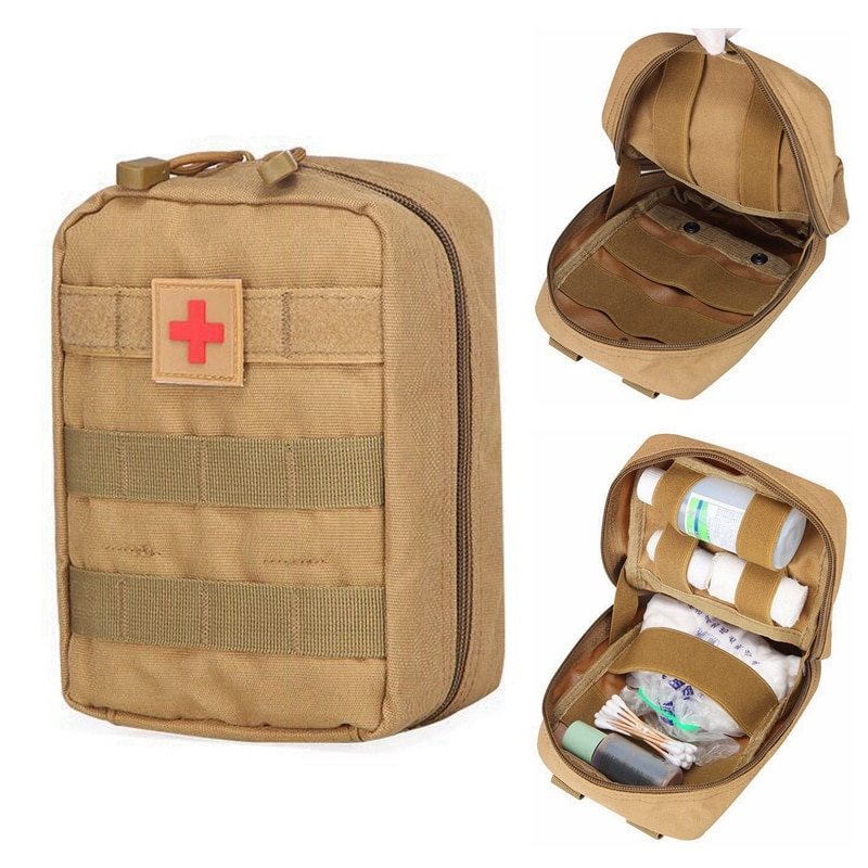 Molle Medical Pouch Tactical First Aid Kit Army Outdoor Hunting Camping Emergency Survival Tool Pack Military Medical EDC Bag military molle admin pouch tactical multi medical kit bag utility tool belt edc pouch for camping hiking hunting 2018