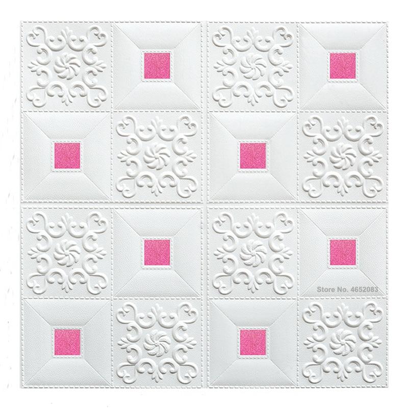 10 peças 3d teto tijolo adesivos de parede sala de estar quarto auto-adesivo papel de parede à prova dwaterproof água espuma estéreo adesivos de parede