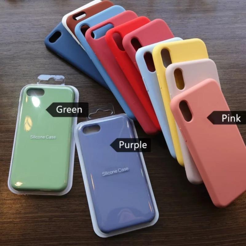 Com caixa original oficial de luxo silicone estojo para iphone 12 pro 11 pro xs max xr x casos em apple iphone 8 7 plus 6s 12 pro