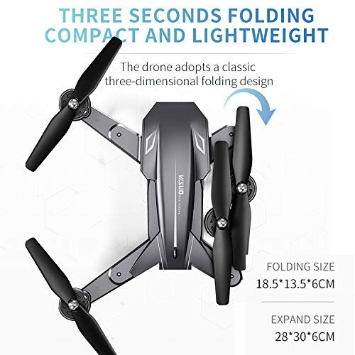 4K Dual Camera XS816 RC Drone with 50 Times Zoom WiFi FPV  Optical Flow Quadcopter Foldable Selfie Dron VS SG106 M70 toys enlarge