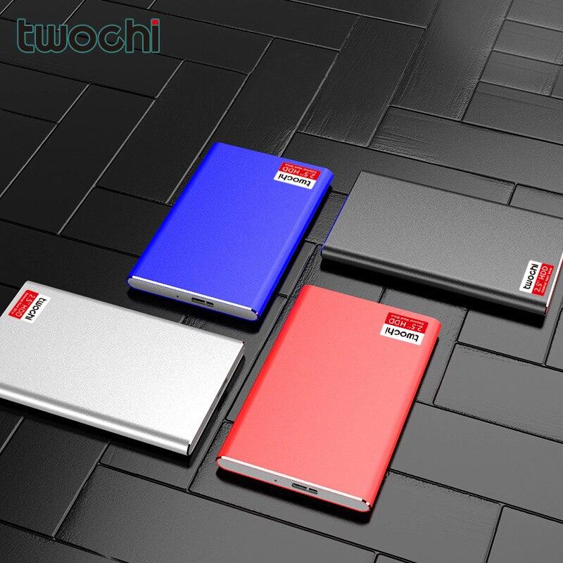TWOCHI'External Hard Drive Disk USB3.0 HDD80GB--1TB Storage for PC, Mac,Tablet, Xbox, PS4,TV box 4 Color