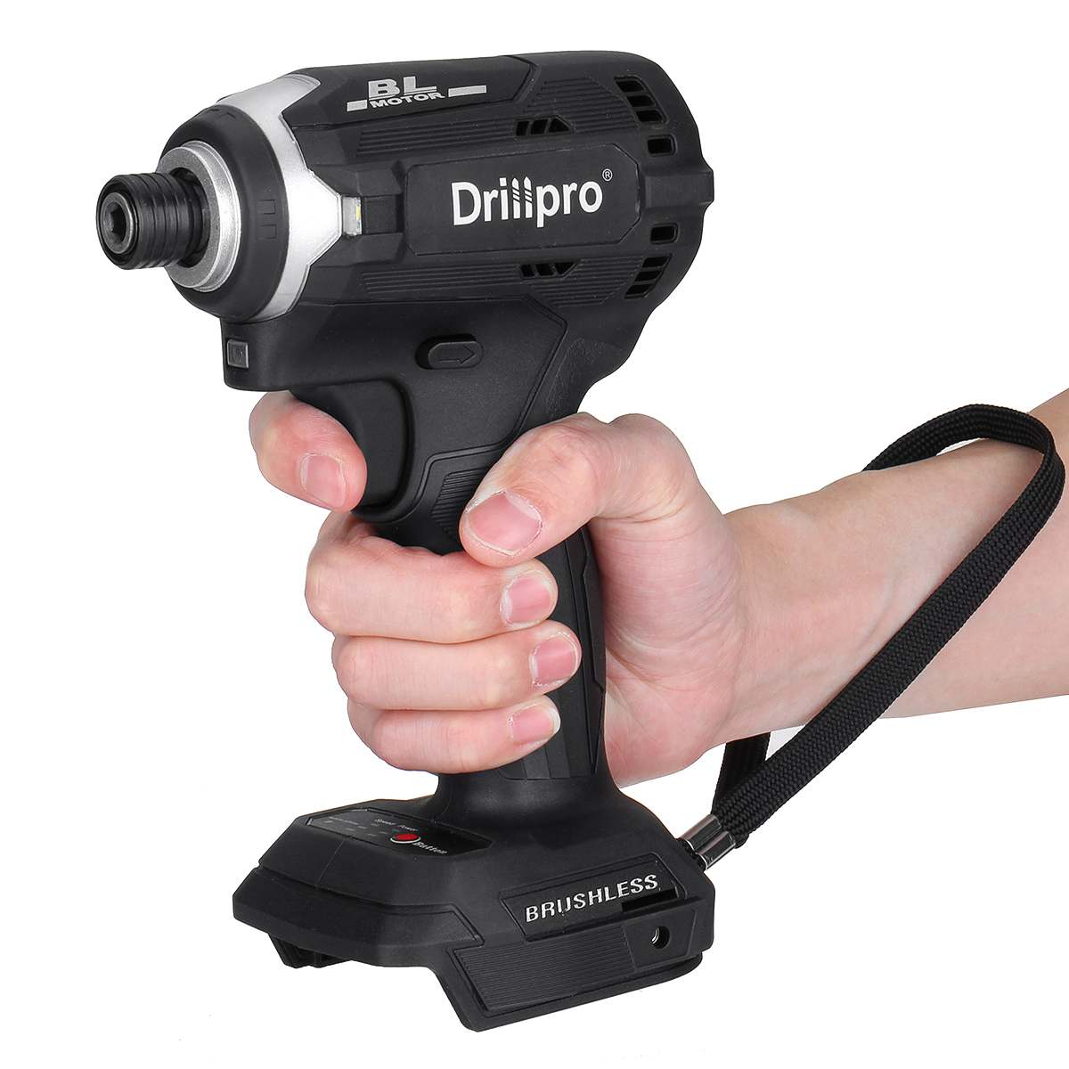 Drillpro فرش مفك كهربائي لاسلكي 1/4 ''تأثير وجع قابلة للشحن الحفر سائق + 3 ضوء ل ماكيتا 18V بطارية