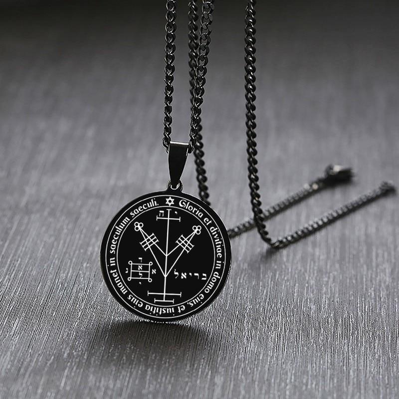 Сатанинских SIGIL OF LUCIFER Бафомет подвеска в форме диска подойдет в качестве подарка как для мужчин, так и для сатанизма Соломоновых Островов ...