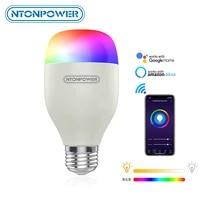 NTONPOWER     ampoule intelligente WiFi  7W RGB  lampe magique E27  intensite variable  lumieres de reveil  Compatible avec Alexa google Home