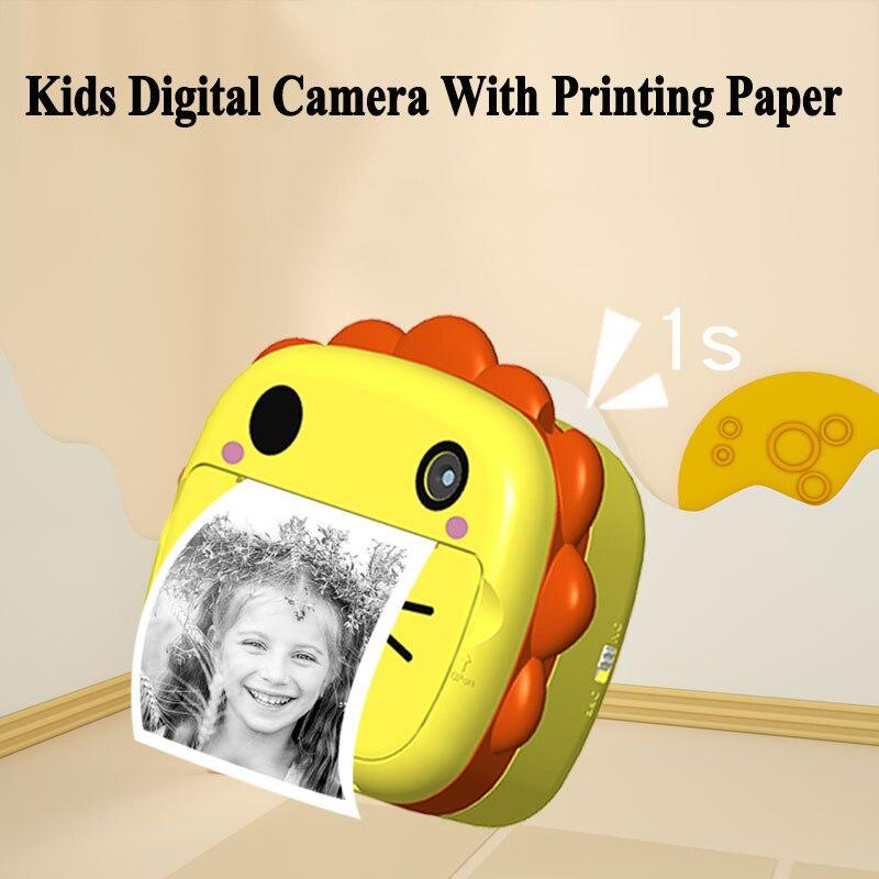 الأطفال كاميرات رقمية للأطفال كاميرا فوتوغرافية الطباعة الفورية 2.4 بوصة لطيف الكرتون قابلة للشحن تسجيل الفيديو كاميرا الطفل 2021 جديد