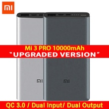Xiaomi Mi 3 Pro 10000 mAh Power Bank Zwei-weg Quick Charge USB-C Dual Eingang Ausgang PLM12ZM 10000 mAh power für Handy