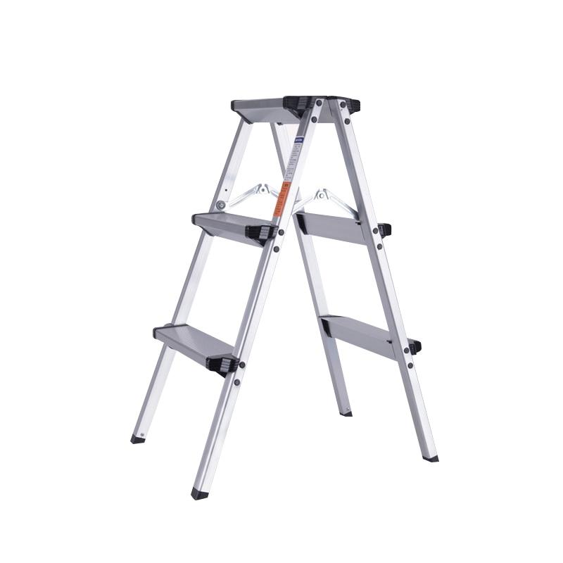 كرسي في الهواء الطلق قابل للسحب الألومنيوم متعرجة سلم متعددة الأغراض الرئيسية الهندسة سلم CE EN131 كرسي مقعد بدرجة قابل للطي