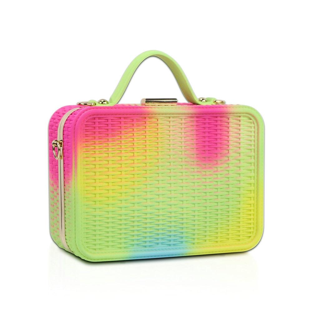 Nuevo diseño de bolso de moda para mujeres bolsa de silicona para dulces bolso de PVC colorido acolchado de algodón de silicona bolsos de hombro tipo bandolera