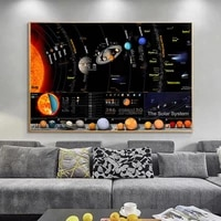 universe solar system poster galaxy space stars nebula art canvas painting poster prints science education for home decor