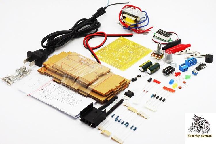 Placa de alimentación estabilizada ajustable LM317, 1 unids/lote, kit de entrenamiento de fuente de alimentación, piezas electrónicas de producción DIY