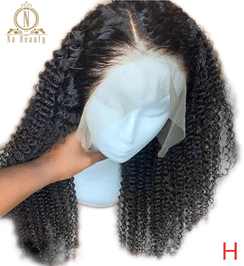 Peluca de encaje transparente mongol rizado 360 pelucas Frontal de encaje pelucas de cabello humano Frontal para mujeres negras densidad 150