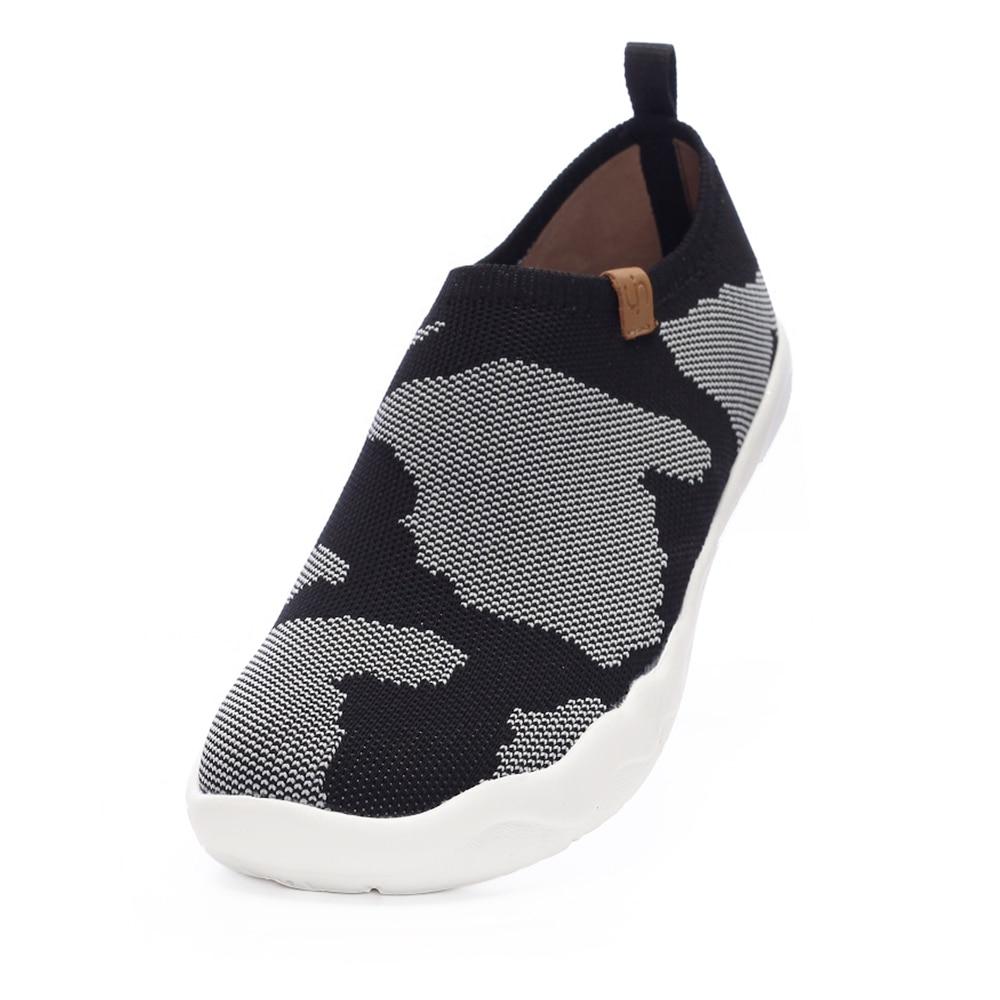 UIN Toledo-أحذية رياضية غير رسمية محبوكة للنساء/الرجال ، أحذية مشي مريحة ، أحذية بدون كعب كبيرة سهلة الارتداء ، أحذية خفيفة الوزن للأزواج