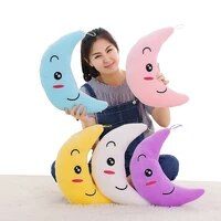 new colorful flashing moon plush toys sleep luminous led light cushion pillow doll birthday gifts for kids yyt219