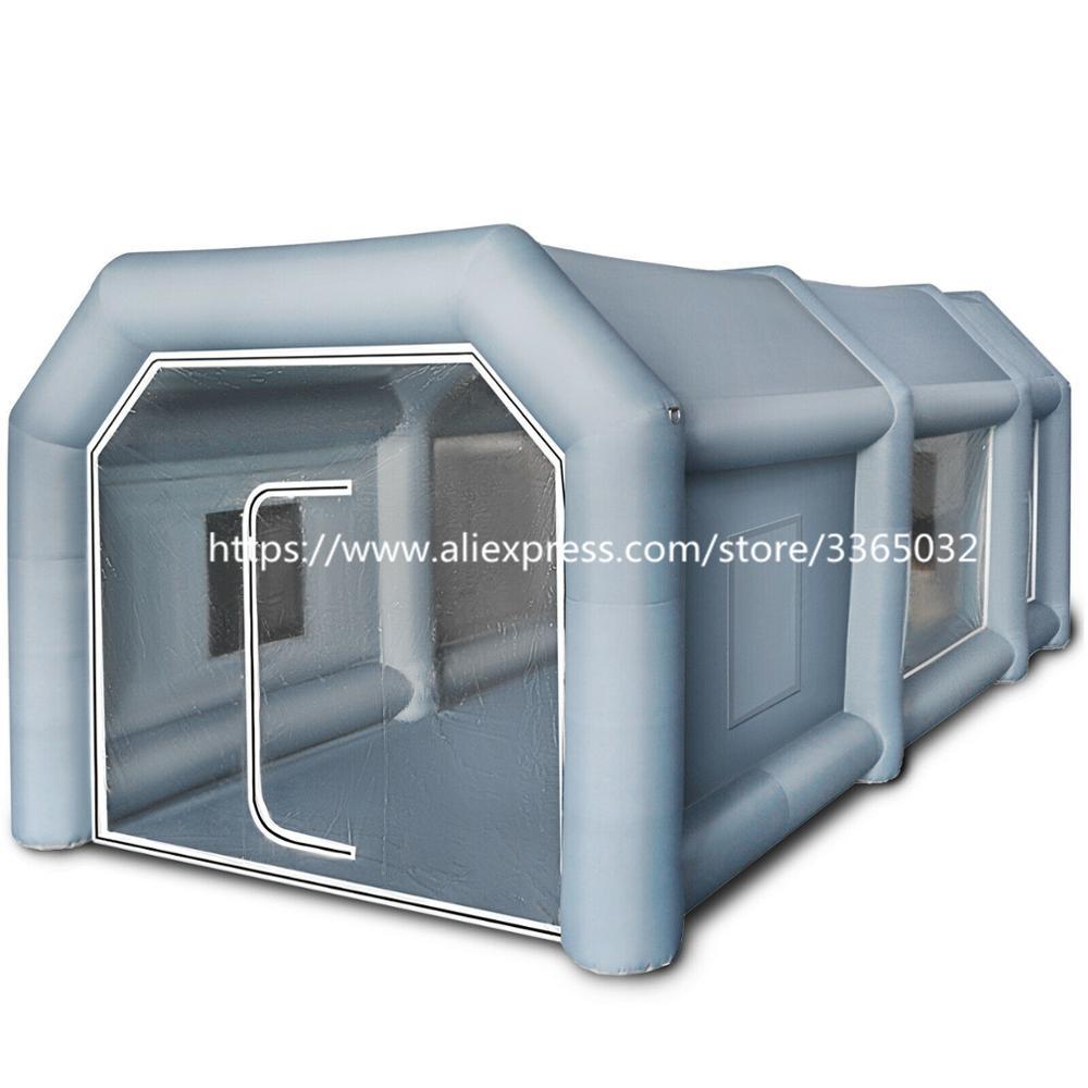 Cabina de tienda de campaña con cabina de aerosol de pintura de coche inflable portátil personalizado