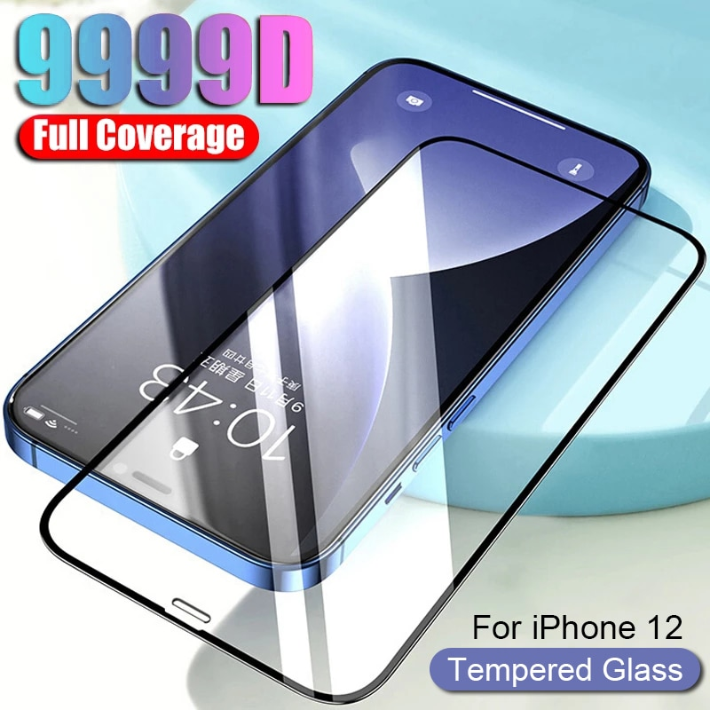 Full Cover Tempered Glass for Apple IPhone 12 11 Pro Max XS XR X Screen Protector Film 12 Mini 8 7 6