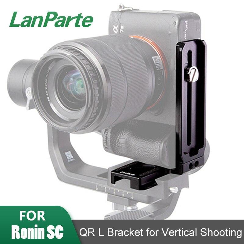 LanParte Ronin SC gimbal камера L Вертикальный Кронштейн пластина Manfrotto 501 arca швейцарская съемка быстросъемная пластина для DJI