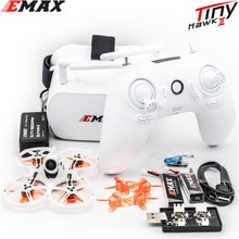 EMAX Tinyhawk II 75mm 1-2S Drone de course FPV RTF / BNF FrSky D8 Runcam Nano2 Cam 25/100/200mw VTX 5A Blheli_S ESC