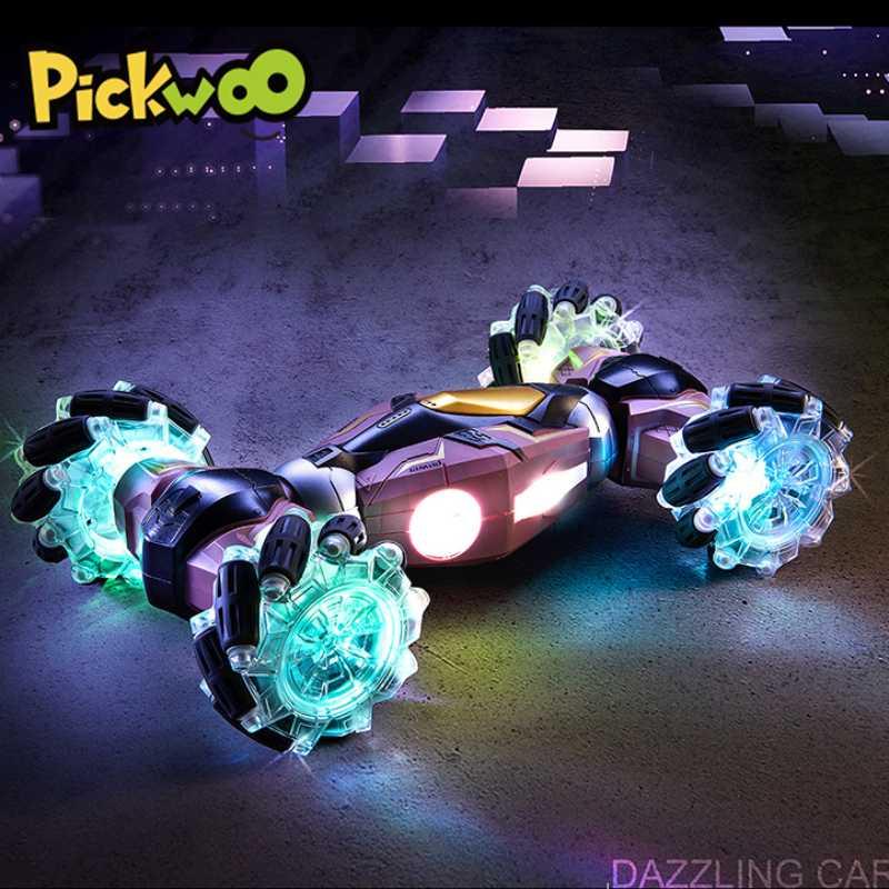 Pickwoo 1:16 4WD RC Stunt Remote Control Car Radio Gesture Induction Light Twist High Speed off Road