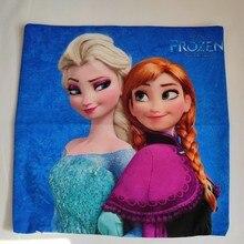 Disney Elsa Anna princesse reine des neiges 2 housse de coussin taie doreiller dessin animé décoratif/sieste sur chambre canapé bébé enfants fille cadeau danniversaire