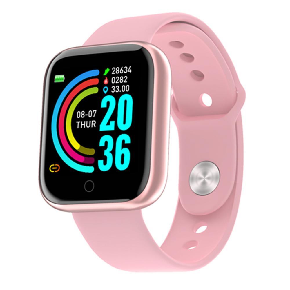 Y68 Bluetooth женские спортивные умные часы мужские водонепроницаемые умные часы с пульсометром Смарт часы Android Relogio фитнес трекер|Смарт-браслеты| | АлиЭкспресс