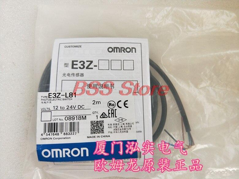 Sensor fotoelétrico E3Z-L81 2m novo & original genuíno