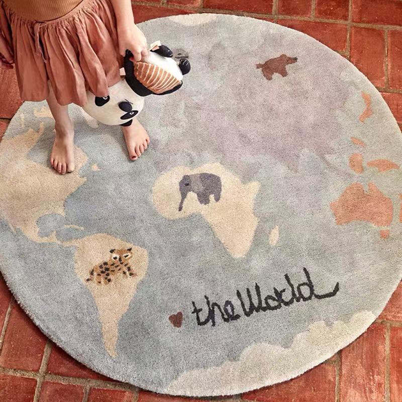 100 سنتيمتر الكرتون السجاد alfombra الأطفال السجاد خاص Ins جميلة غرفة المعيشة البساط سجادة غرفة النوم tapَطِور دي سالا