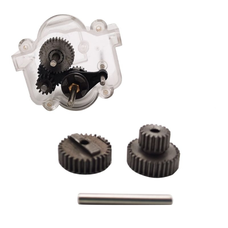 1 Set Metal Gears With 370 Motor For Speed Change Gear Box For WPL  B1 B24 B16 B36 C24 1/16 4WD 6WD RC Car 634F enlarge