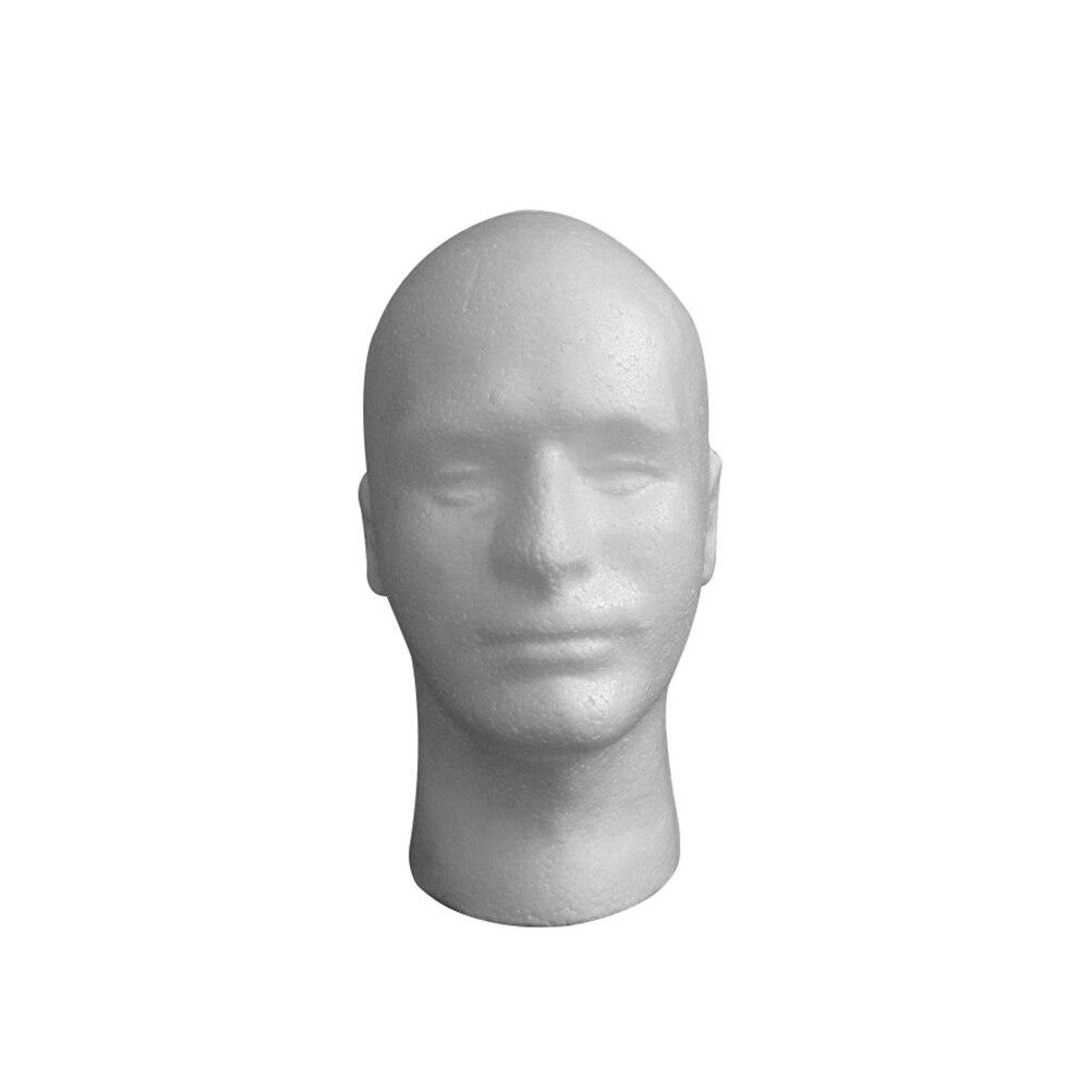 Auriculares de espuma de flocado para hombre, mujer, peluca, modelo, soporte, tapa, sombrero, maniquí, tienda en casa, cabeza de maniquí
