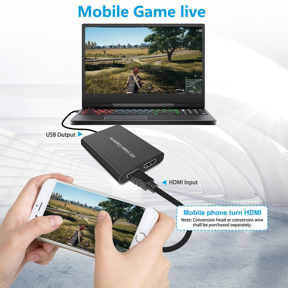 Dispositivo de captura de tarjeta de captura de vídeo HDMI USB 3,0,...