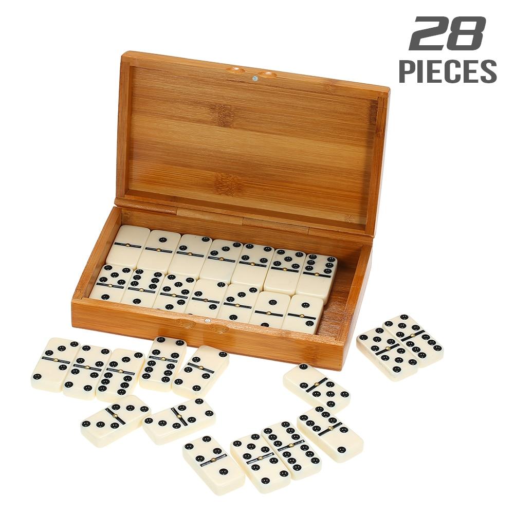 Обучающая игрушка домино набор развлекательных игр для отдыха путешествий деревянные строительные блоки для обучения домино в горошек