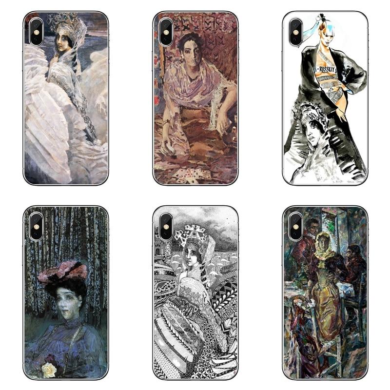 Mikhail Vrubel princesa cisne para Samsung Galaxy A10 A30 A40 A50 A60 A70 A6s A8 A9s J4 J6 primer Plus 2018 cubierta caso