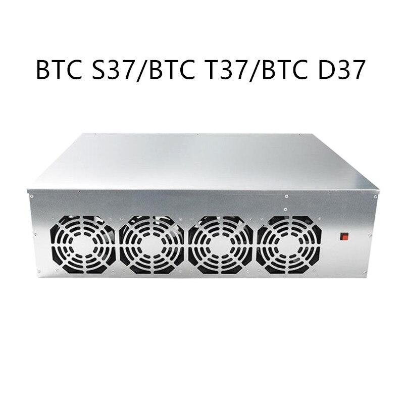 مينر مجموعة BTC-D37 BTC S37 T37 الهيكل اللوحة 8 فتحات DDR SSD آلة استخراج المعادن نظام مع 4 المشجعين للتعدين ETH Ethereum