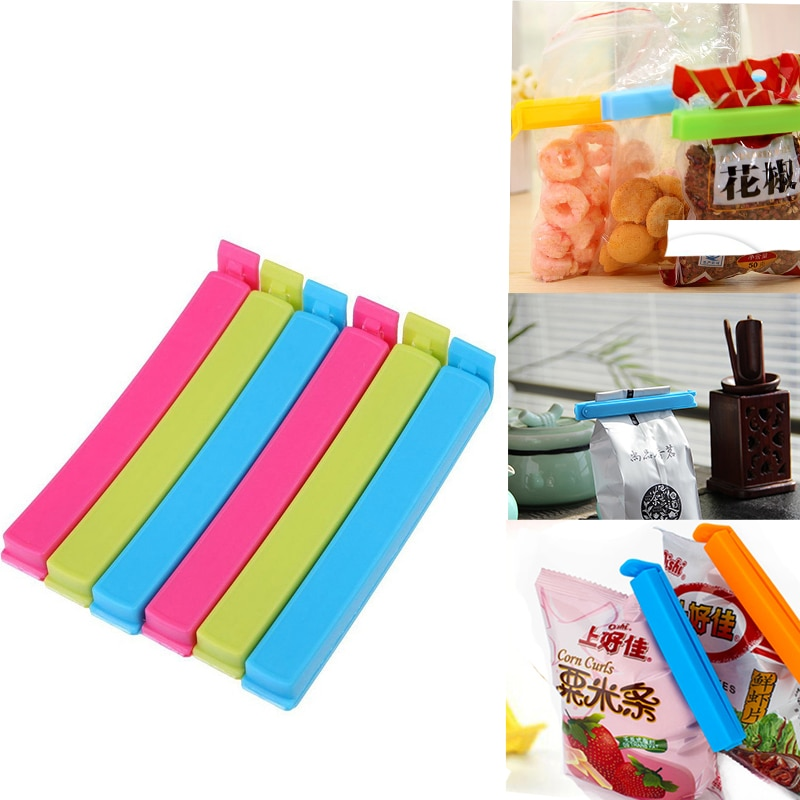Food Fruit Vegetable Snacks Seal Clip Food Storage Bag Sealer  Keep Fresh Closure Pocket  Mini Vacuum Sealing Clamp  Kitchen Too