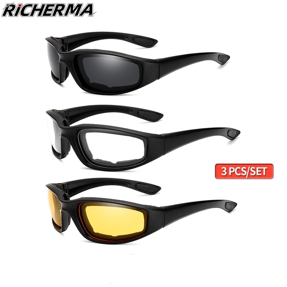 Fashionable Motorcycle Glasses Racing Anti-glare Windproof Vintage Men Women Safety Goggles Eyeglasses Sunglasses Eye Protection