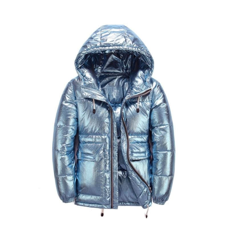 New Style Bread Coat Winter Men's Coat Thickened Warm 90 White Down Medium length Down Jacket for Men's Couple