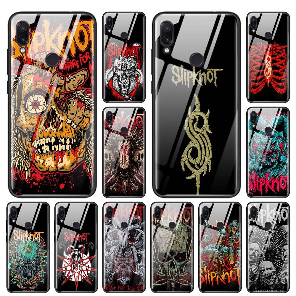 Slipknot Rock Tempered Glass Case for Redmi Note 6 7 8 Pro 8T 9T K20 K30 Xiaomi Mi A3 CC9 CC9E Note 10 Pro Cover