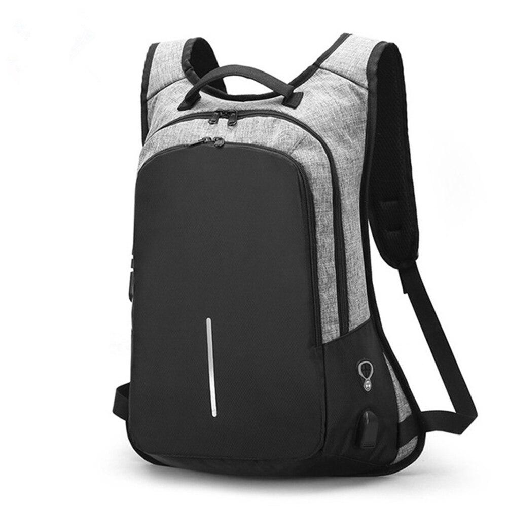 حقيبة ظهر كلاسيكية للكمبيوتر المحمول مقاس 15.6 بوصة للرجال والنساء ، حقيبة ظهر للكمبيوتر المحمول مع منفذ USB وسماعات أذن ، حقيبة ظهر للعمل