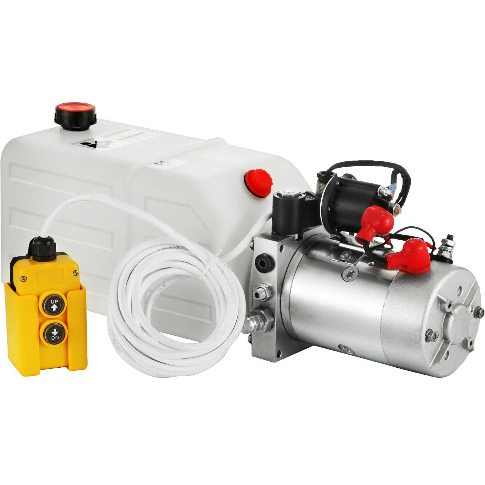 مضخة خزان بلاستيكية أحادية أو مزدوجة ، وحدة طاقة هيدروليكية 12 فولت ، 7 لتر