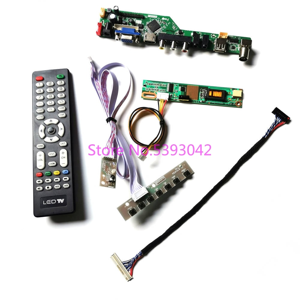 ل LP154WX5 (TL)(A1)/(TL)(B1)/(TL)(C1) 1CCFL LVDS 30 دبوس إشارة التناظرية USB + VGA + AV TV عن بعد 1280*800 LCD لوحة تحكم عدة