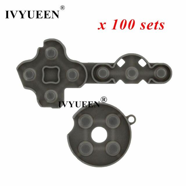 IVYUEEN, 100 комплектов для Microsoft Xbox 360, искусственные резиновые силиконовые контактные накладки, детали для планшета