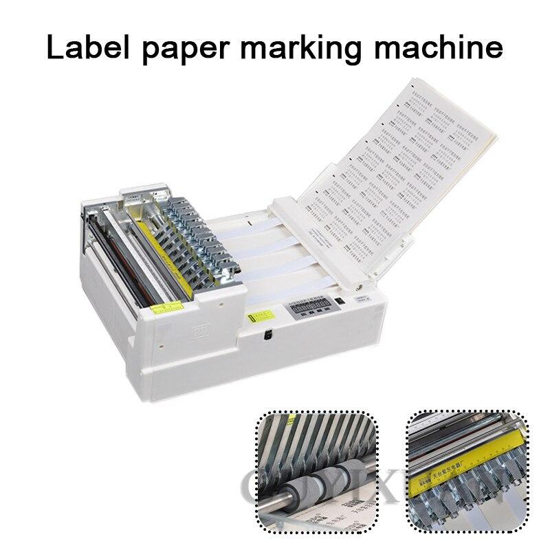 Máquina de trazado de pegatina comercial A4, máquina automática de alimentación de papel, máquina de trazado de etiquetas de código de barras, máquina marcado etiquetas