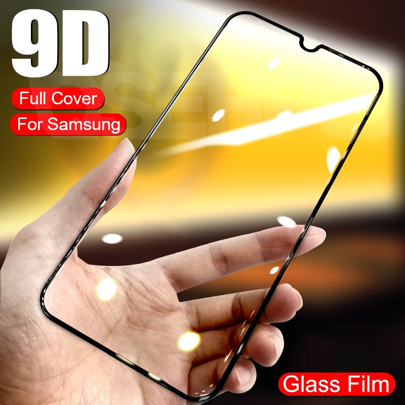 9D Tempered Glass For Samsung Galaxy A01 A11 A21 A31 A41 A51 A71 Screen Protector M11 M21 M31 M51 A2