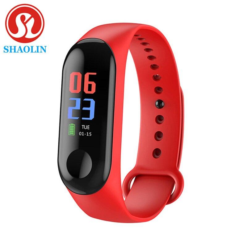 SHAOLIN Smart Band Fitness Tracker Smart Bracelet Heart Rate Monitor Watches Sport Wristband For Men Women Smartband